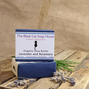 Eco-friendly Black Cat Soap House Soap bar Lavender and rosemary