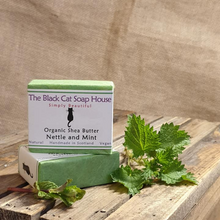 Load image into Gallery viewer, Eco-friendly Black Cat Soap House Soap bar Nettle and mint