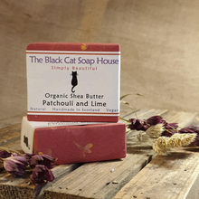 Load image into Gallery viewer, Eco-friendly Black Cat Soap House Soap bar Patchouli and lime