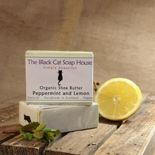 Load image into Gallery viewer, Eco-friendly Black Cat Soap House Soap bar Peppermint and lemon