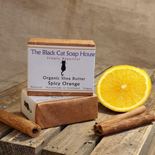 Load image into Gallery viewer, Eco-friendly Black Cat Soap House Soap bar Spicy orange