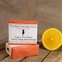 Load image into Gallery viewer, Eco-friendly Black Cat Soap House Soap bar Ylang ylang and orange