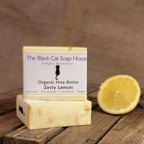 Eco-friendly Black Cat Soap House Soap bar Zesty lemon