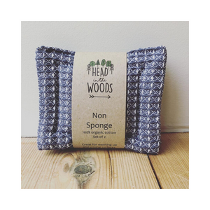 Eco-friendly non sponges grey check