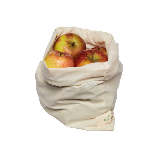 Organic cotton bread and produce bag