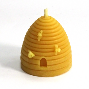 beeswax candle skep