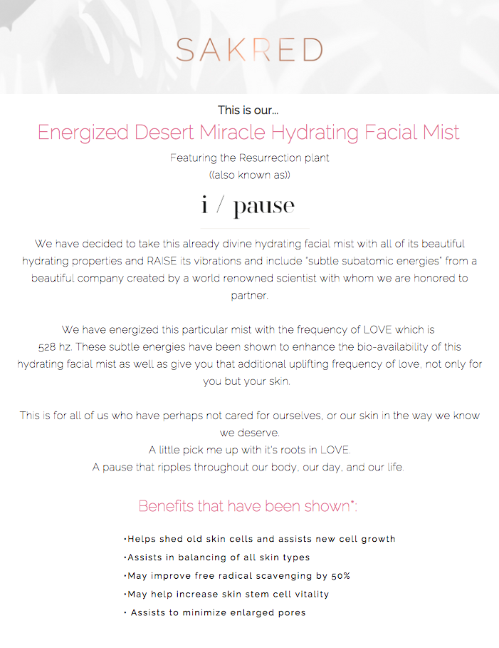 I/PAUSE (LOVE FREQUENCY INFUSED FACIAL MIST)