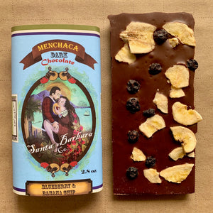 Blueberries & Banana Chips Dark Chocolate Bar