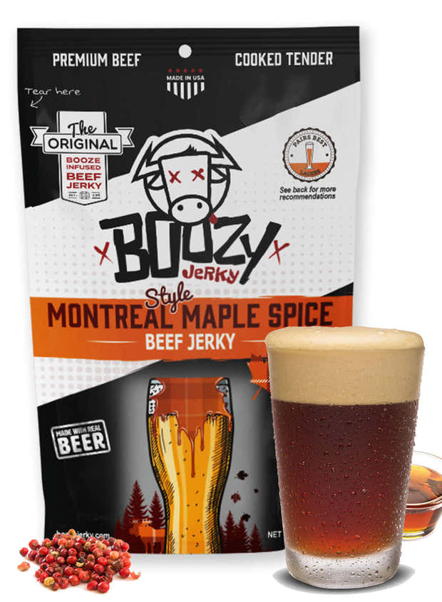Montreal Maple Spice Lager Beef Jerky 1