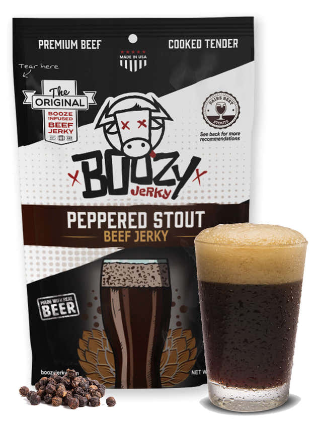 Peppered Stout Beef Jerky 1