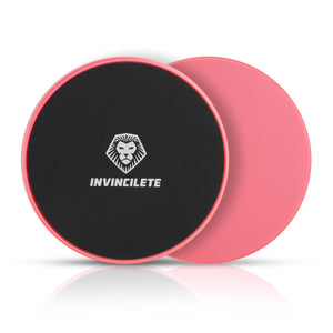 Invincilete Pink Core Sliders with Mesh Bag for a Killer Ab Workout!