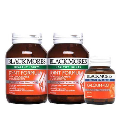 Blackmores Joint Formula with Glucosamine & Chondroitin 2x60 Capsules + D3 500IU 30 Capsules