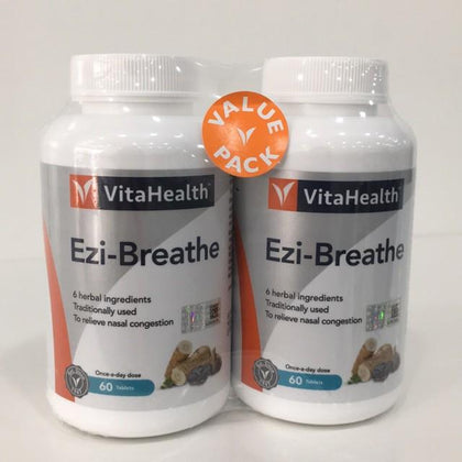 Vitahealth Ezi-Breathe 721Mg 2 X 60 Tablets Healthcare & Supplements