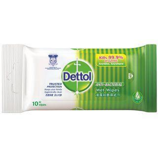 Dettol Anti-Bacterial Wet Wipes (10 Wipes X 3)