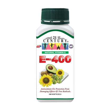 21St Century Vitamin E-400 100 Softgels Healthcare & Supplements
