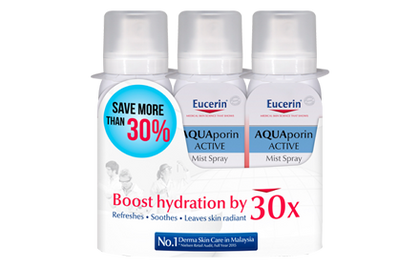 Eucerin Aqua Mist Spray 3X50Ml Face Moisturize