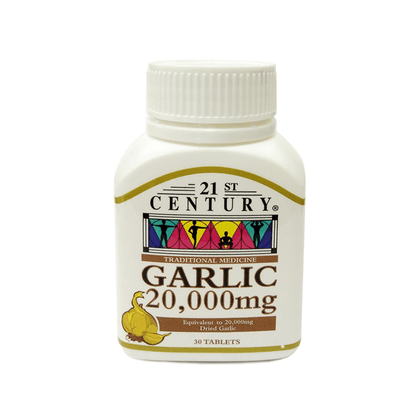 21st Century Garlic Potent 20000mg 30 Tablets