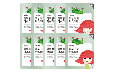 Yadah Soothing Mask Pack 10Pcs Face