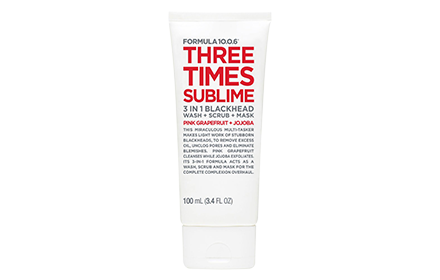 Formula 10.0.6 Three Times Sublime 3 In 1 Blackhead Wash+Scrub+Mask 100Ml Cleanse
