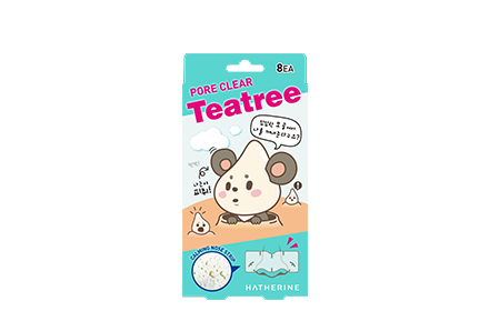 Hatherine Tea Tree Pore Pack 8Pcs/box Face Mask