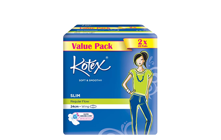 Kotex Maxi Slim 24Cm Wing 20S X 2 Personal Care