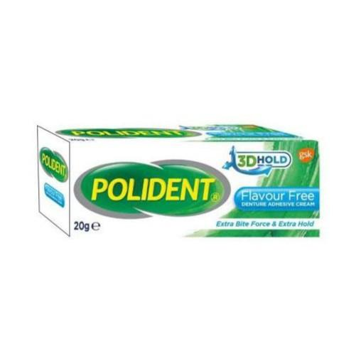 Polident Adhesive Cream (Flavour Free) 20g