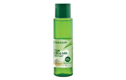 Chriszen 98% Aloe Vera & Rice Milk Toner 150Ml Cleanse