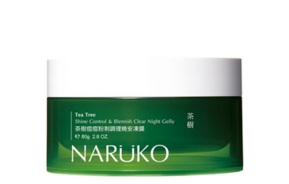 Naruko Tea Tree Shine Control & Blemish Clear Night Gelly 80G Face Mask