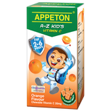Appeton A-Z Kids Vitamin C Orange / Strawberry / Blackcurrant 30mg 100 Tablets