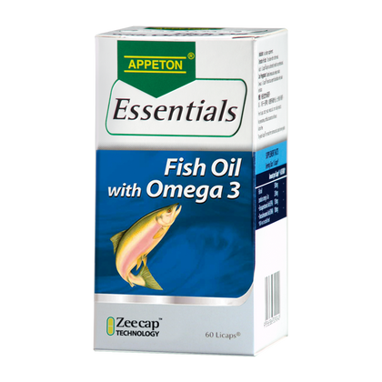 Appeton Essentials Fish Oil With Omega 3 60 Licaps
