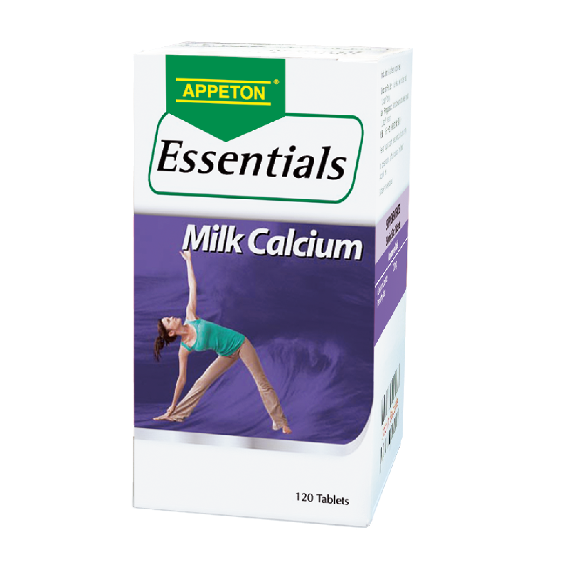 Appeton Essentials Milk Calcium 120 Tablets
