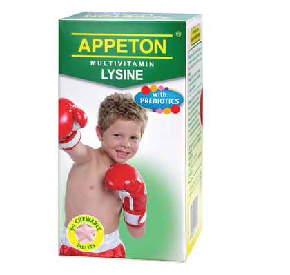Appeton Multivitamin Lysine With Prebiotics 60 Tablets Healthcare & Supplements