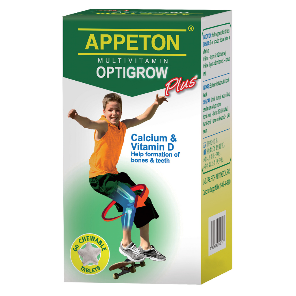 Appeton Multivitamin Optigrow Plus 60 Tablets