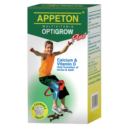 Appeton Multivitamin Optigrow Plus 60 Tablets Healthcare & Supplements