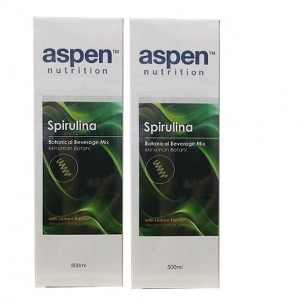 Aspen Nutrition Spirulina 500ml (Twin Pack)