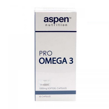 Aspen Nutrition Pro Omega 3 1000mg 60 Softgel Capsules