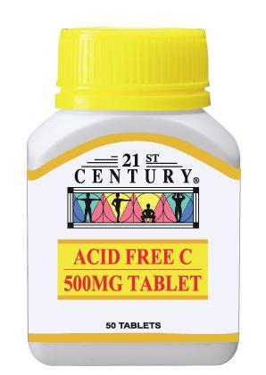 21St Century Acid Free C 500Mg 50 Tablets Vitamin