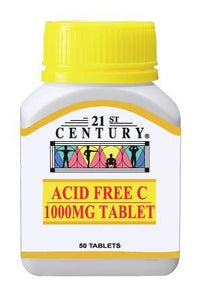 21St Century Acid Free C 1000Mg 50 Tablets Vitamin