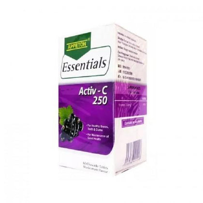 Appeton Essentials Activ-C 250Mg Blackcurrant 60 Tablets Vitamin C