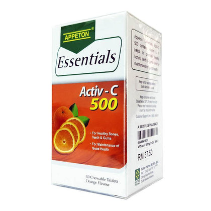 Appeton Essentials Activ-C 500mg Orange 30 Tablets