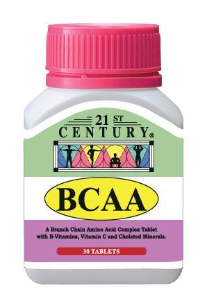 21St Century Bcaa 30 Tablets Healthcare & Supplements