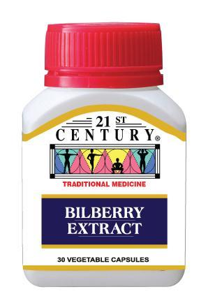 21St Century Bilberry Extract 30 Capsules Healthcare & Supplements