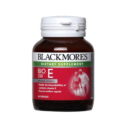 Blackmores Dietary Supplement Bio E 250IU 60 Capsules