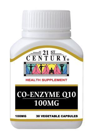 21St Century Co-Enzyme Q10 100Mg 30 Capsules Healthcare & Supplements