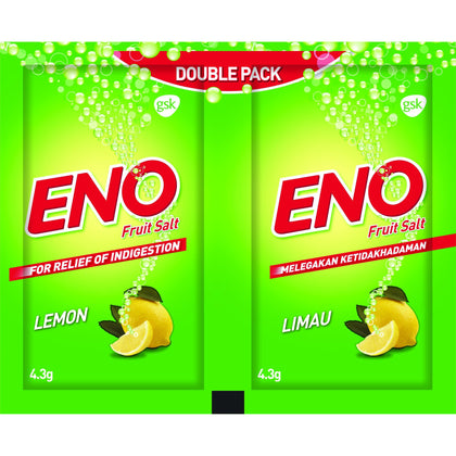 ENO Lemon Effervescent 4.3g Twin Sachet
