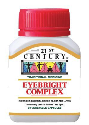 21St Century Eyebright Complex 30 Capsules Healthcare & Supplements