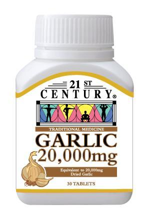 21st Century Traditional Medicine Garlic 20,000mg 30 Tablets