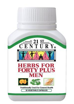 21St Century Herbs For Forty Plus Men 30 Capsules Healthcare & Supplements