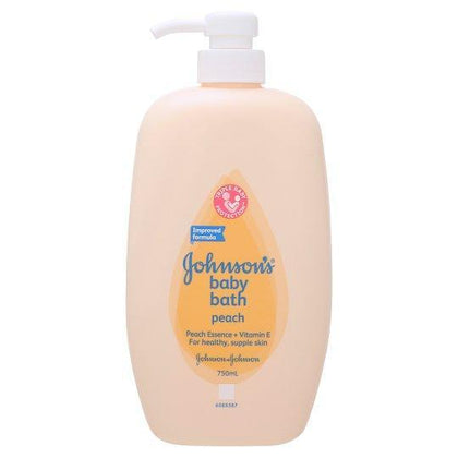 Johnsons Baby Bath Peach 750Ml / 1000Ml Refill 600Ml X 2