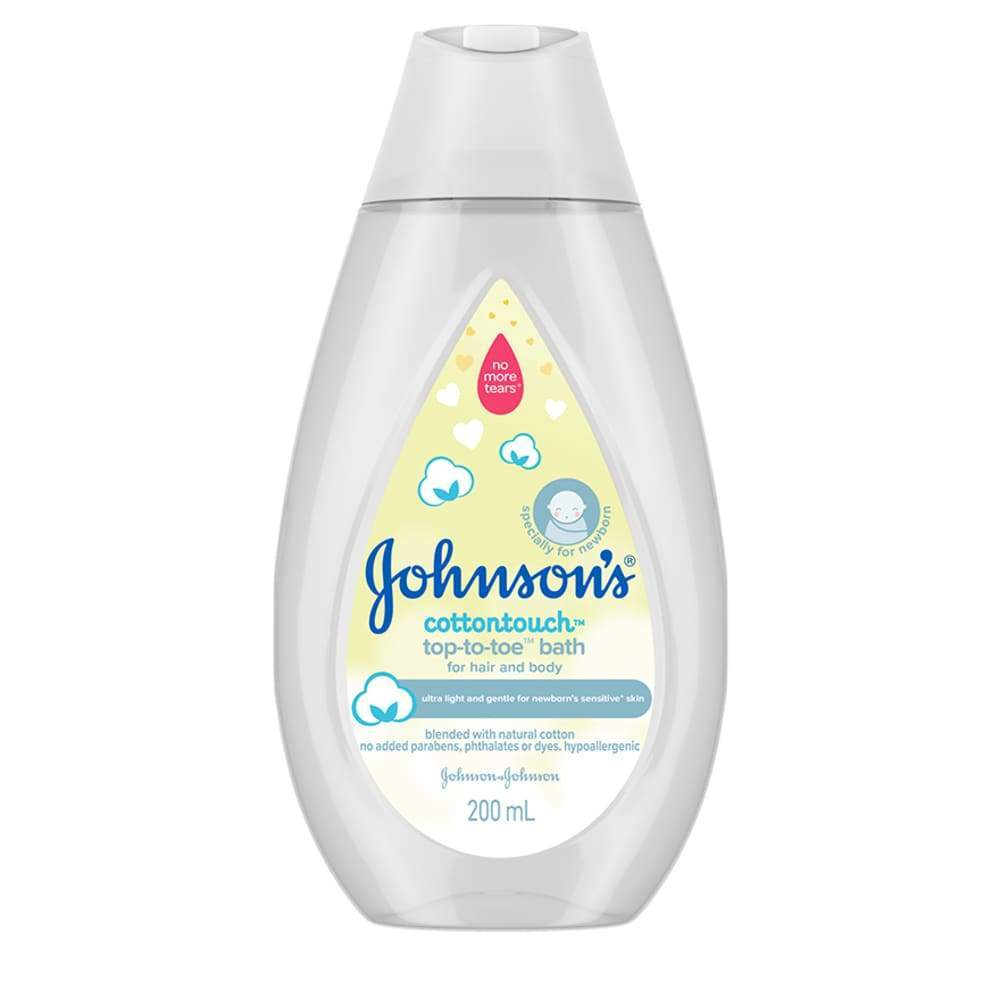 Johnsons Cotton Touch Bath Top-To-Toe 200Ml / 500Ml